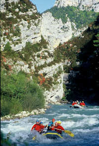 Rafting Verdon Gorge